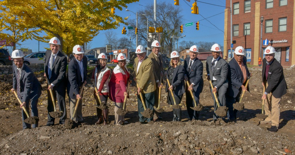 Mayor Megan Barry and MDHA break ground on 10th & Jefferson November 20, 2015 in Nashville, Tenn.
