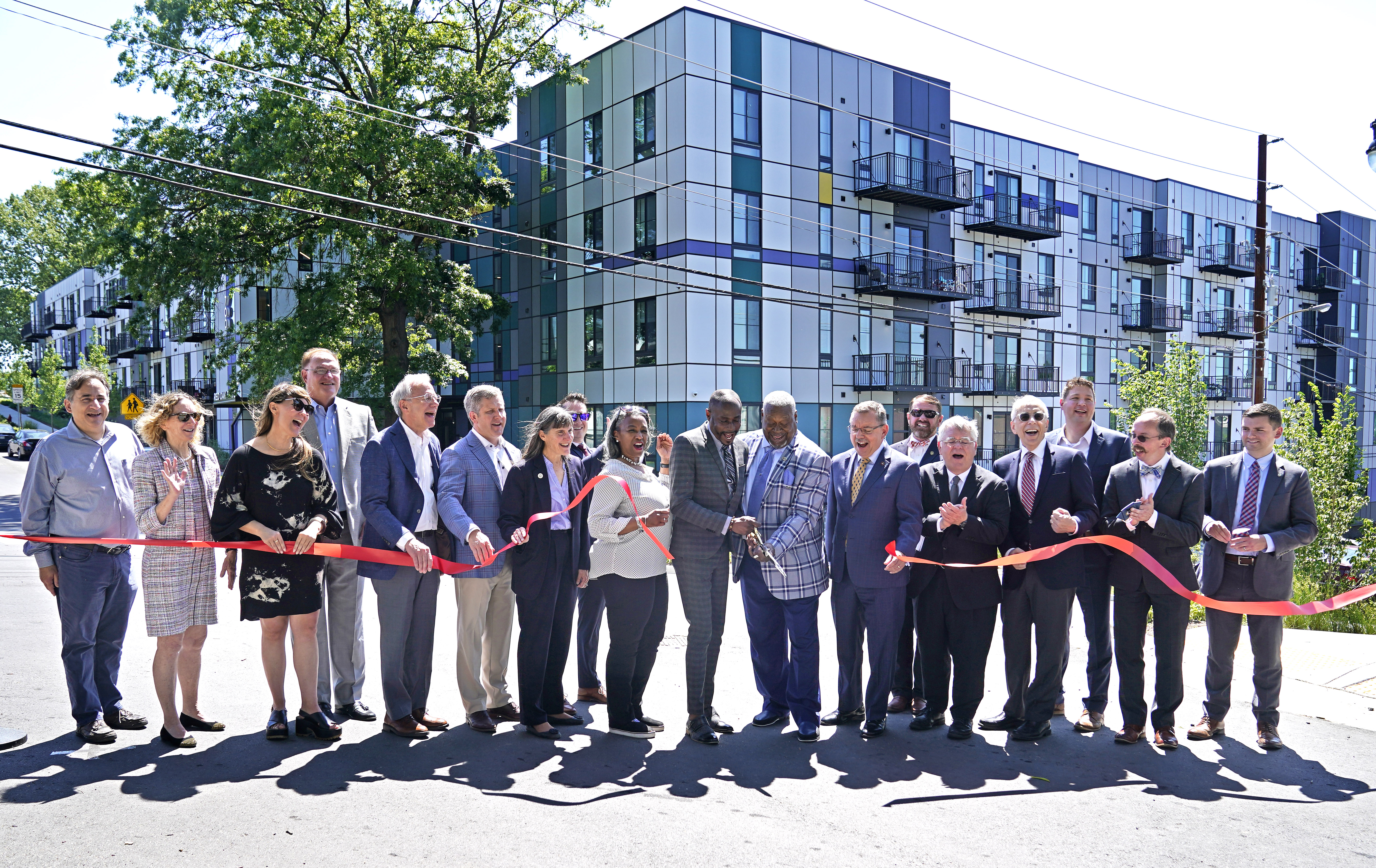 A ribbon cutting ceremony for Red Oak Flats, Envision Cayce's fifth new residential construction and fourth mixed-income development Thursday May 20, 2021, in Nashville, Tenn.